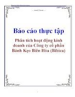 Báo cáo thực tập: Phân tích hoạt động kinh doanh của Công ty cổ phần Bánh Kẹo Biên Hòa (Bibica) pot