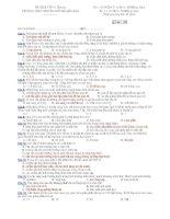 Trường THPT chuyên Huỳnh Mẫn Đạt - đề thi sinh học 10 nâng cao (đề số 167) ppsx