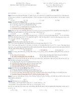 Trường THPT chuyên Huỳnh Mẫn Đạt - đề thi hóa học 12 chuyên (đề số 186) ppsx