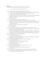 NGÂN HÀNG CÂU HỎI TRẮC NGHIỆM VÀ BÀI TẬP NGÀNH THƯƠNG MẠI pdf