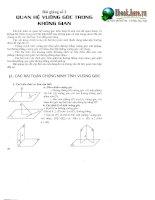 Tài liệu ôn toán - Chuyên đề 2 - Quan hệ vuông góc trong không gian potx