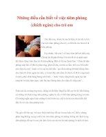 Những điều cần biết về việc tiêm phòng (chích ngừa) cho trẻ em docx