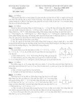 Đề thi tuyển sinh THPT môn vật lý trường Quốc học Huế ppt