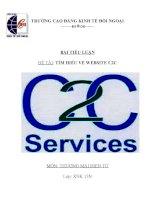 Tìm hiểu về WEBSITE C2C pot