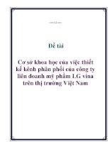Đề tài: Cơ sở khoa học của việc thiết kế kênh phân phối của công ty liên doanh mỹ phẩm LG vina trên thị trường Việt Nam doc