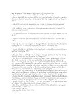 Đáp án câu hỏi luật knh tế doc