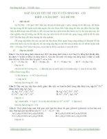 Hóa học thpt - Lời giải chi tiết đề thi ĐH năm 2007 khối A docx