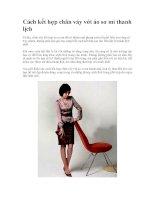 Cách kết hợp chân váy với áo sơ mi thanh lịch potx