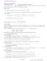 Đề thi thử Đại học 2011 môn toán khối A, D - THPT Liên Hà Hà Nội docx