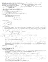 Đề thi thử tuyển sinh đại học môn toán khối B năm 2011 THPT Chuyên Lý Tự Trọng ppt
