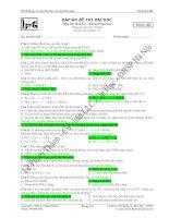 đề thi thử môn hóa lần 1 mã đề 006 năm học 2008 - 2009 trường trung học phổ thông phan bội châu pot