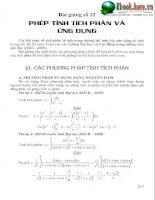 Tài liệu ôn toán - Chuyên đề 12 Phép tính tích phân và ứng dụng potx