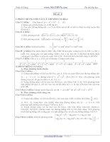 Đề thi thử Đại học năm 2011 của Trần Sỹ Tùng ( Có đáp án) - Đề số 1 pdf