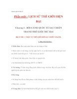 Giáo lịch sử thế giới lớp 12 - TRẬT TỰ THẾ GIỚI MỚI SAU CHIẾN TRANH THẾ GIỚI THỨ HAI pdf