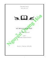 Kế hoạch dạy học môn lịch sử 7 pdf