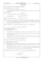 Đề thi thử Đại học năm 2011 của Trần Sỹ Tùng ( Có đáp án) - Đề số 14 doc