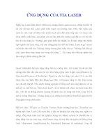 ỨNG DỤNG CỦA TIA LASER pot