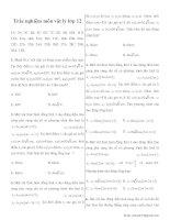 Trắc nghiệm môn vật lý lớp 12 có đáp án potx