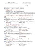 Trường THPT chuyên Huỳnh Mẫn Đạt - đề thi sinh học 12 căn bản (đề số 337) docx