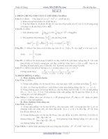 Đề thi thử Đại học năm 2011 của Trần Sỹ Tùng ( Có đáp án) - Đề số 3 ppt