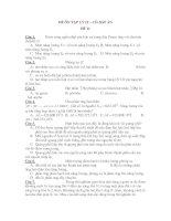 ĐỀ ÔN TẬP LÝ 12 – CÓ ĐÁP ÁN ĐỀ 11 potx