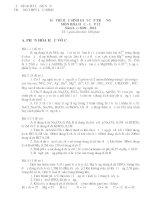 ĐỀ THI HỌC SINH GIỎI CẤP TRƯỜNG MÔN HÓA HỌC 12 NĂM 2009 – 2010 THPT LỘC BÌNH doc