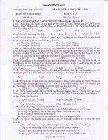 ĐỀ THI THỬ LÝ LẦN 5 2011 : ĐẠI HỌC SƯ PHẠM HÀ NỘI - MÃ ĐỀ 151 doc
