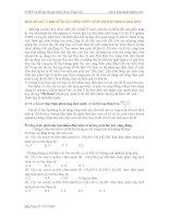 MỘT SỐ LƯU Ý KHI SỬ DỤNG CÔNG THỨC TÍNH NHANH TRONG HÓA HỌC ppt