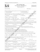 đề thi thử môn hóa lần 1 mã đề 007 năm học 2008 - 2009 trường trung học phổ thông phan bội châu pptx