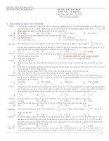 Đề thi thử Lý - số 3 ppsx