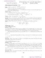 Đề thi thử Đại học 2011 môn toán khối A - THPT Trần Hưng Đạo pdf