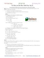 Tài liệu ôn thi môn Sinh học lớp 12 pdf
