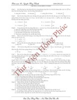 Chuyên đề ôn thi đại học môn vật lý - DAO ĐỘNG CƠ HỌC pptx