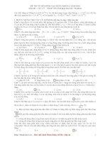 Đáp án đề thi CĐ môn Vật lý khối A năm 2010 - 2 doc