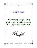 Luận văn: Thực trạng và giải pháp phát triển quan hệ thương mại Việt Nam - Nhật Bản pps