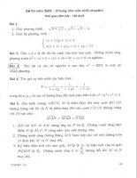 Tuyển tập đề thi tuyển sinh thpt chuyên Toán - Tin - ĐH Quốc Gia Hà Nội - Phần 4 pptx