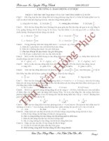 Chuyên đề ôn thi đại học môn vật lý - DAO ĐỘNG CƠ HỌC pps