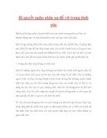 Bí quyết ngăn chặn sự đổ vỡ trong tình yêu pdf