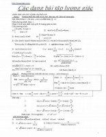 Chuyên đề ôn thi đại học môn toán - Các bài tập lượng giác ppsx