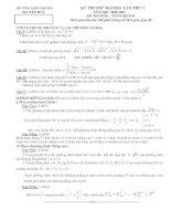 đề thi thử môn toán khối B trường trung học phổ thông chuyên nguyễn huệ năm học 2008 - 2009 ppsx