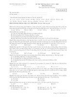 TRƯỜNG THPT ĐÔ LƯƠNG I - ĐỀ THI THỬ ĐẠI HỌC LẦN 2- MÔN HOÁ pdf