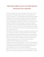 Cuộc chiến tranh bắt buộc - Hoàn thành nhiệm vụ bước 2 của chiến dịch giải phóng hoàn toàn Campuchia doc