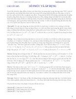 Chuyên đề ôn thi đại học môn toán - Số phức và áp dụng doc