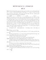 ĐỀ ÔN TẬP LÝ 12 – CÓ ĐÁP ÁN ĐỀ 10 ppsx