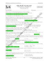 đề thi thử môn hóa lần 2 năm học 2008 - 2009 trường trung học phổ thông phan bội châu doc