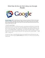 Khai thác tối đa các tính năng của Google Reader ppt