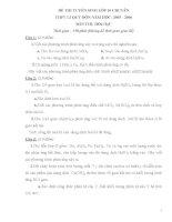 ĐỀ THI TUYỂN SINH LỚP 10 CHUYÊN THPT LÊ QUÝ ĐÔN MÔN HÓA docx