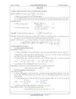 Đề thi thử Đại học năm 2011 của Trần Sỹ Tùng ( Có đáp án) - Đề số 5 ppsx