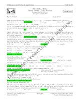 đề thi thử môn hóa lần 1 mã đề 009 năm học 2008 - 2009 trường trung học phổ thông phan bội châu pptx