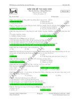 đề thi thử môn hóa lần 1 năm học 2008 - 2009 trường trung học phổ thông phan bội châu pot